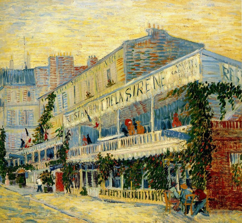 Vincent van Gogh, View Restaurant, Canvas, Vincent Van Gogh, kanvas tablo, canvas print sales