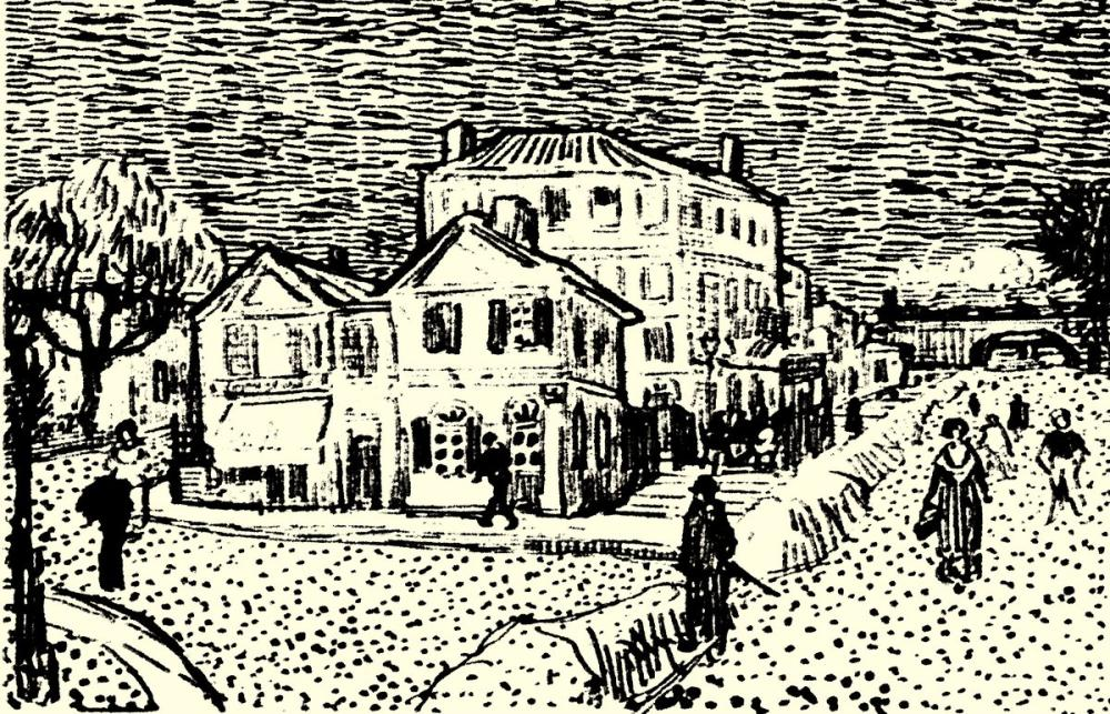 Vincent van Gogh, Vincents Haus Skecth, Canvas, Vincent Van Gogh, kanvas tablo, canvas print sales