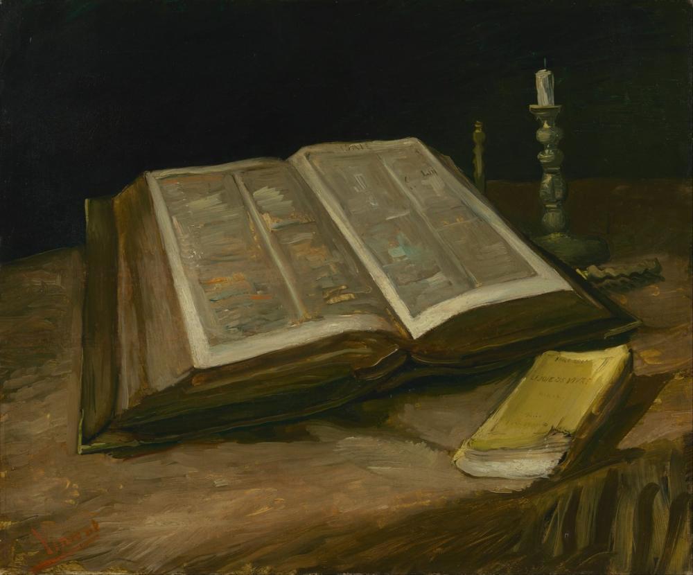 Vincent van Gogh, Still Life with Bible, Canvas, Vincent Van Gogh, kanvas tablo, canvas print sales