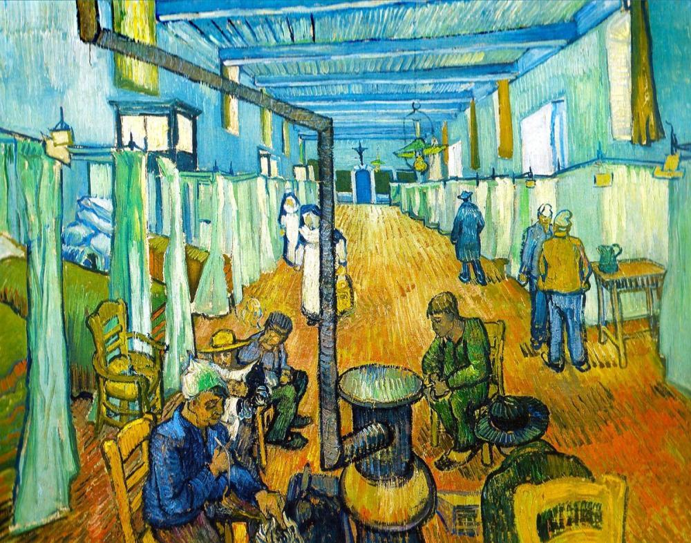 Vincent van Gogh, Ward in the Hospital in Arles, Canvas, Vincent Van Gogh, kanvas tablo, canvas print sales