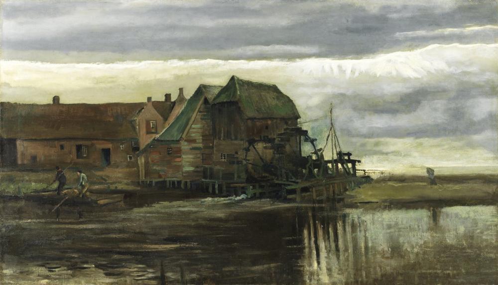 Vincent van Gogh, Gennep teki Su Değirmeni, Kanvas Tablo, Vincent Van Gogh, kanvas tablo, canvas print sales