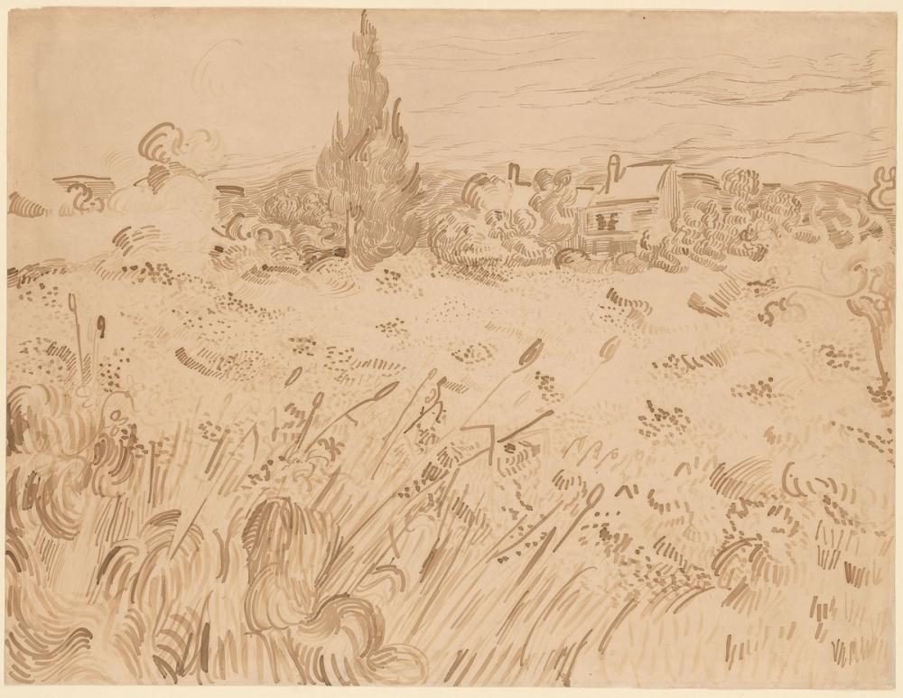Vincent van Gogh, Wheat Field, Saint Rémy de Provence, Canvas, Vincent Van Gogh, kanvas tablo, canvas print sales
