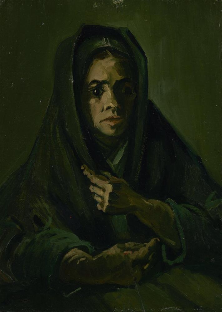 Vincent van Gogh, Woman with Falie, Canvas, Vincent Van Gogh, kanvas tablo, canvas print sales
