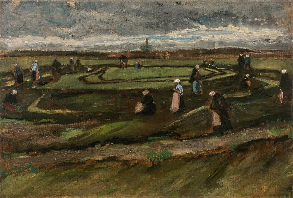 Vincent van Gogh, Kadınlar Dunes Ağları Tamir, Kanvas Tablo, Vincent Van Gogh, kanvas tablo, canvas print sales