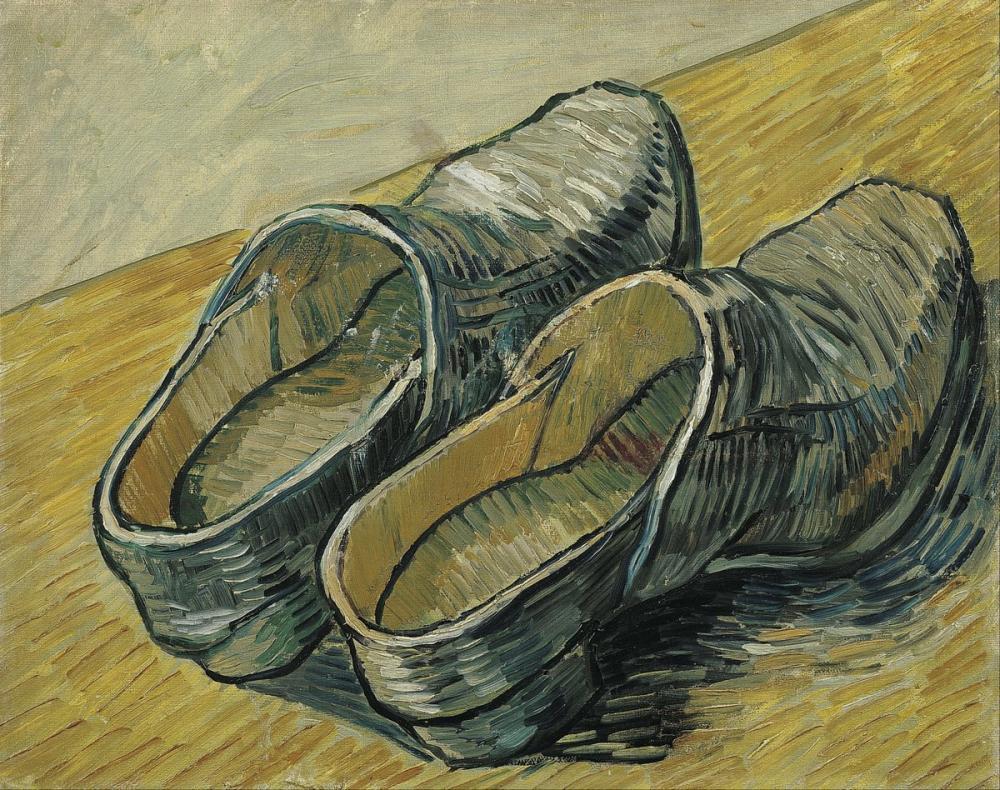 Vincent van Gogh, Bir Çift Deri Takunya, Kanvas Tablo, Vincent Van Gogh, kanvas tablo, canvas print sales