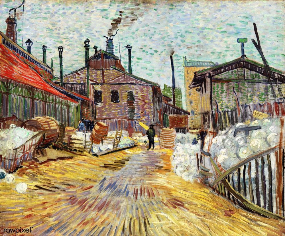 Vincent van Gogh, Asnières Factory, Canvas, Vincent Van Gogh, kanvas tablo, canvas print sales