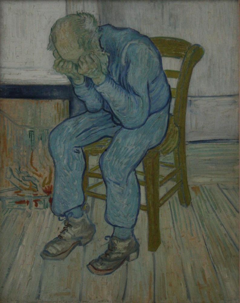 Vincent van Gogh, Sonsuzluğun Kapısında, Kanvas Tablo, Vincent Van Gogh, kanvas tablo, canvas print sales