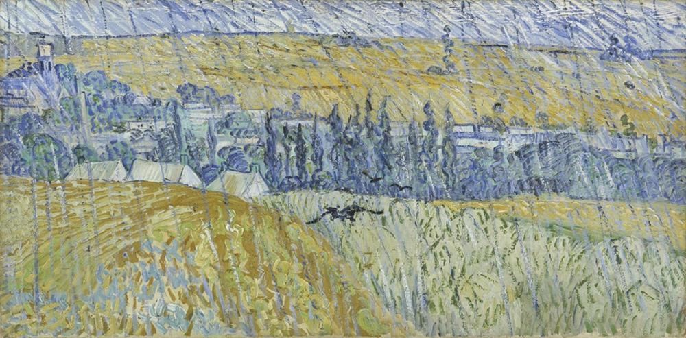 Vincent van Gogh, Auvers in The Rain, Canvas, Vincent Van Gogh, kanvas tablo, canvas print sales