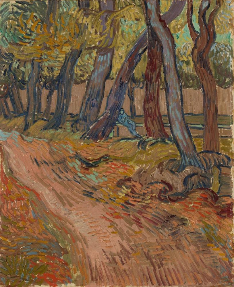 Vincent van Gogh, Avenue of Poplars in Autumn, Canvas, Vincent Van Gogh, kanvas tablo, canvas print sales