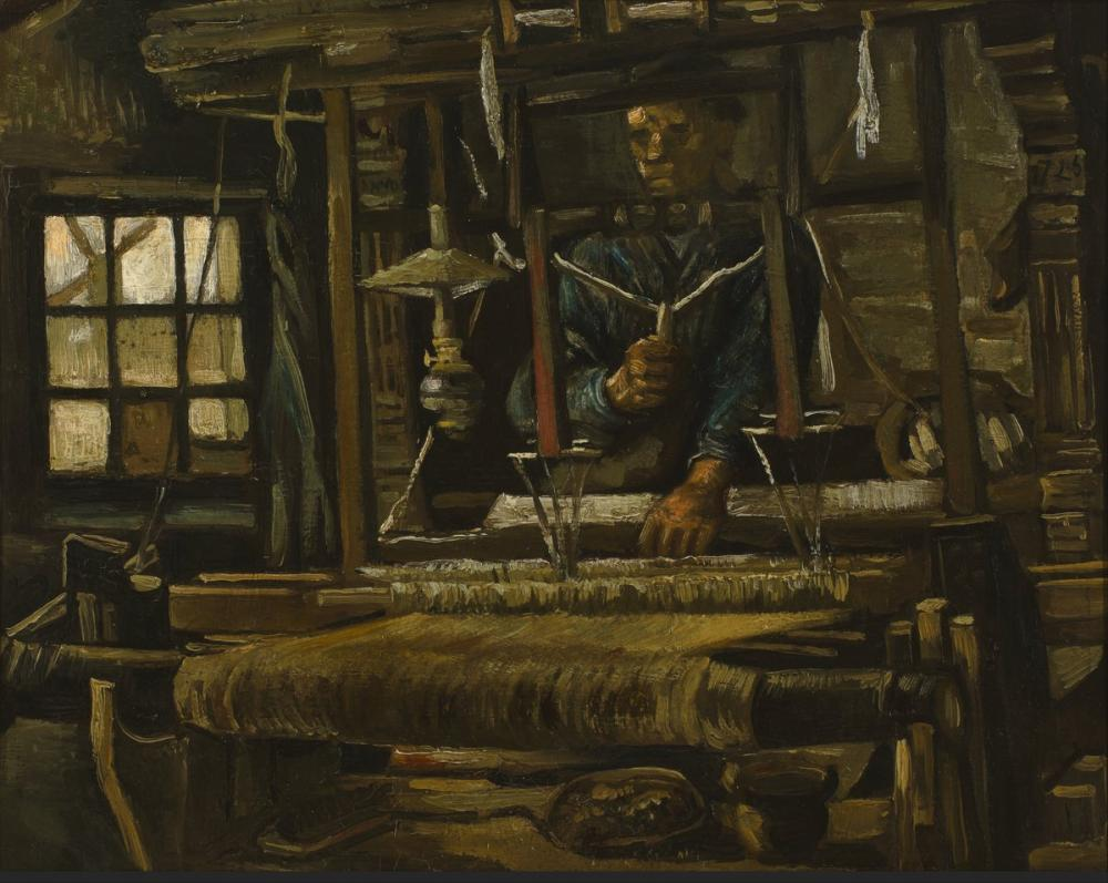 Vincent van Gogh, Bir Dokumacı Kulübesi, Kanvas Tablo, Vincent Van Gogh, kanvas tablo, canvas print sales