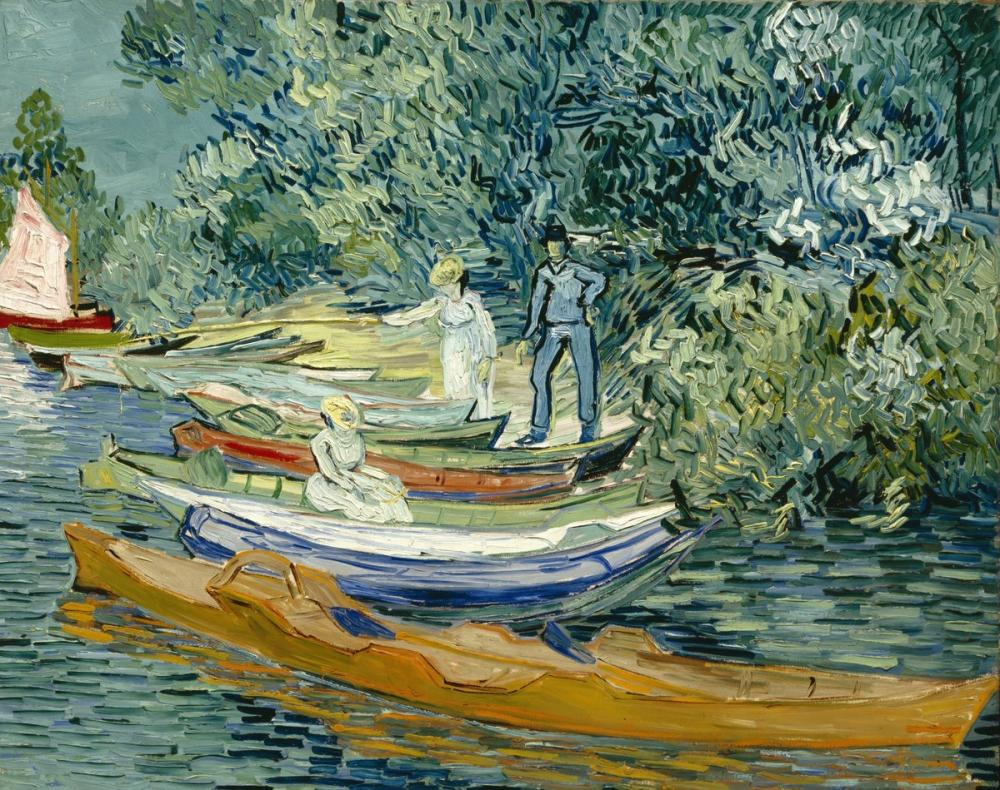 Vincent van Gogh, Auvers Oise Sahili, Kanvas Tablo, Vincent Van Gogh, kanvas tablo, canvas print sales