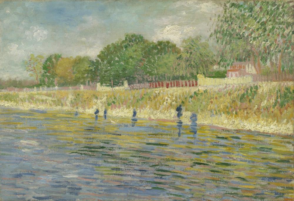 Vincent van Gogh, Bank of The Seine, Canvas, Vincent Van Gogh, kanvas tablo, canvas print sales