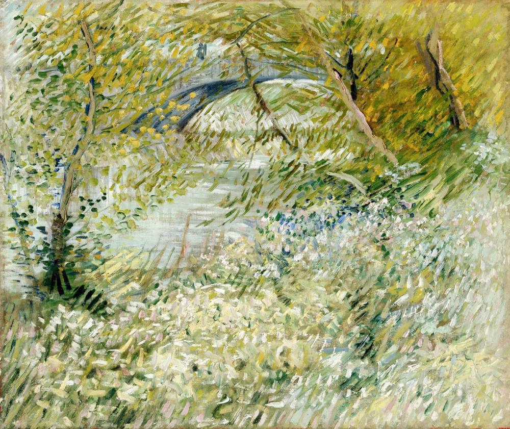 Vincent van Gogh, İlkbaharda Pont de Clichy ile Seine Kıyılarında, Kanvas Tablo, Vincent Van Gogh, kanvas tablo, canvas print sales