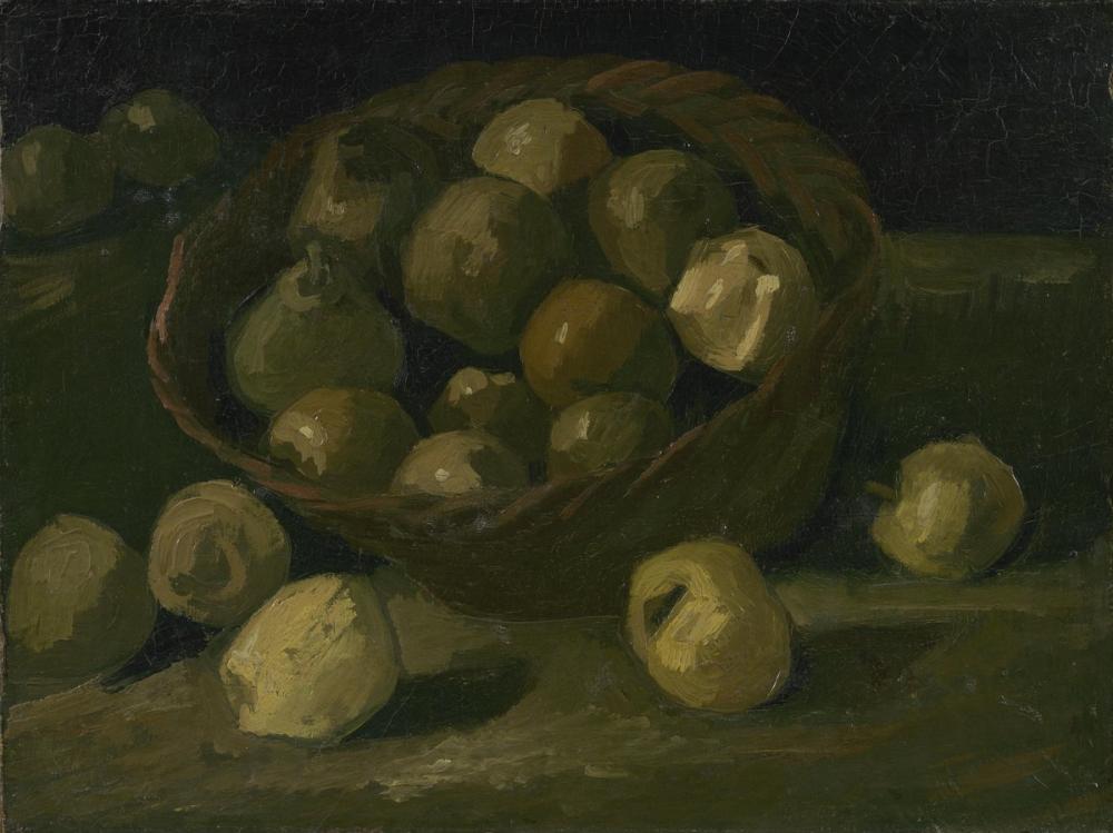 Vincent van Gogh, Basket of Apples, Canvas, Vincent Van Gogh, kanvas tablo, canvas print sales