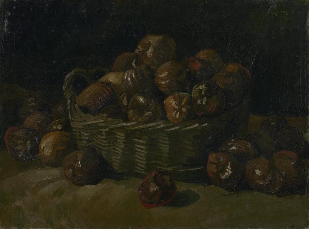Vincent van Gogh, Elma Sepeti, Kanvas Tablo, Vincent Van Gogh, kanvas tablo, canvas print sales