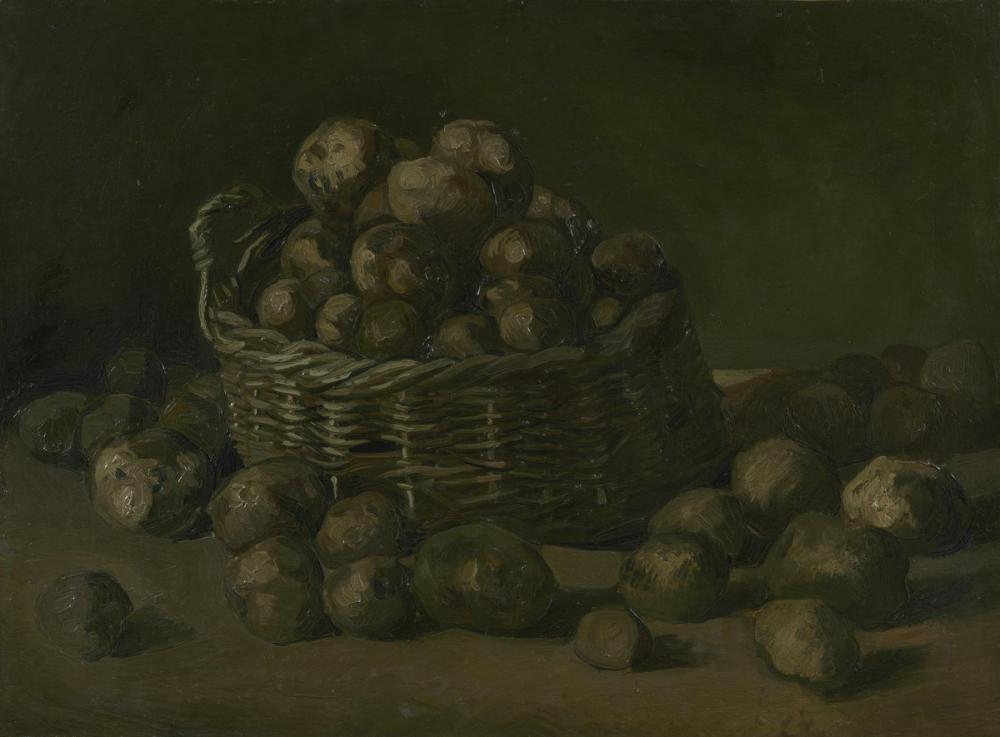 Vincent van Gogh, Basket of Potatoes, Canvas, Vincent Van Gogh, kanvas tablo, canvas print sales