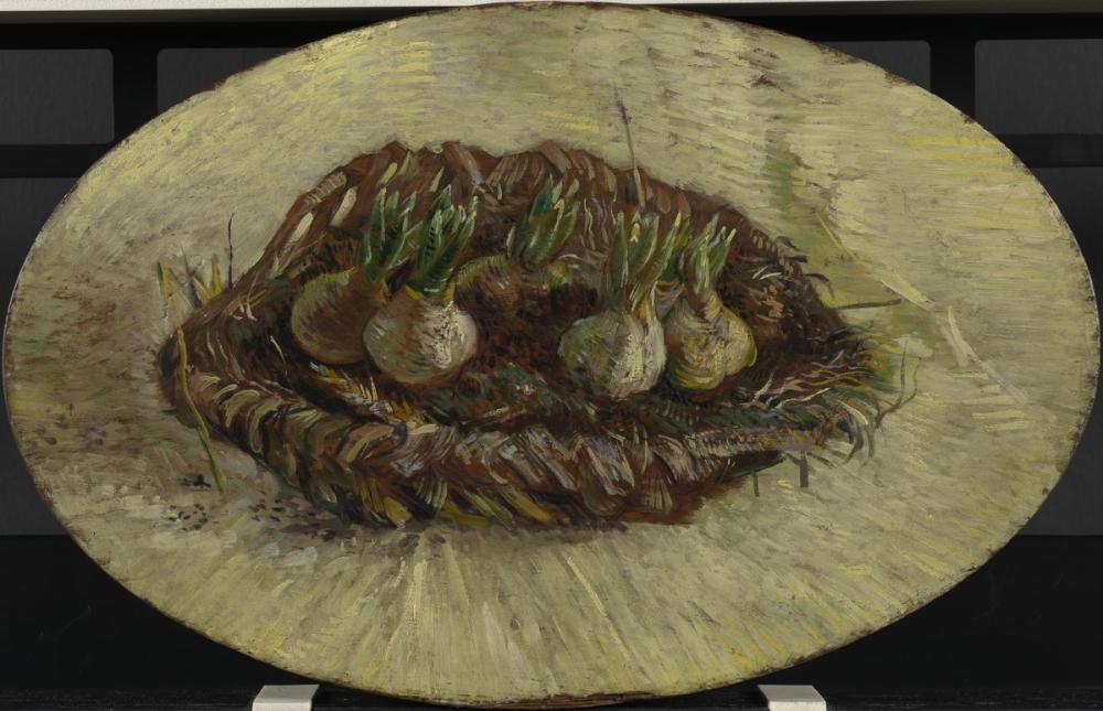 Vincent van Gogh, Basket with Hyacinth Bulbs, Canvas, Vincent Van Gogh, kanvas tablo, canvas print sales
