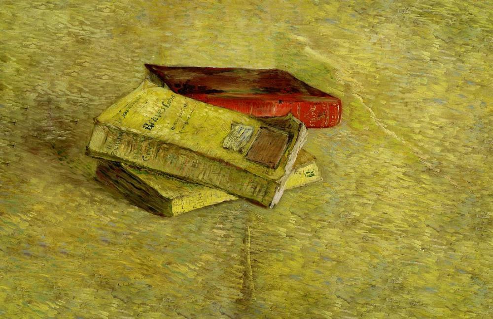 Vincent van Gogh Still Life with three Books, Canvas, Vincent Van Gogh, kanvas tablo, canvas print sales