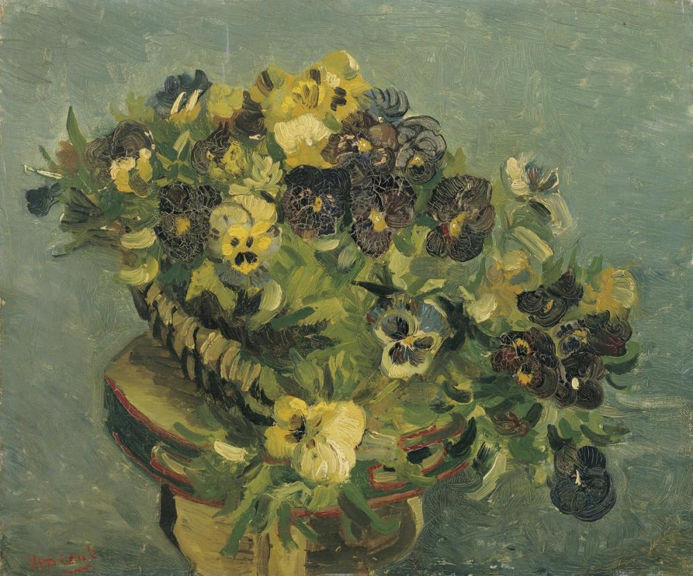 Vincent van Gogh, Hercai Menekşe Sepeti, Canvas, Vincent Van Gogh, kanvas tablo, canvas print sales