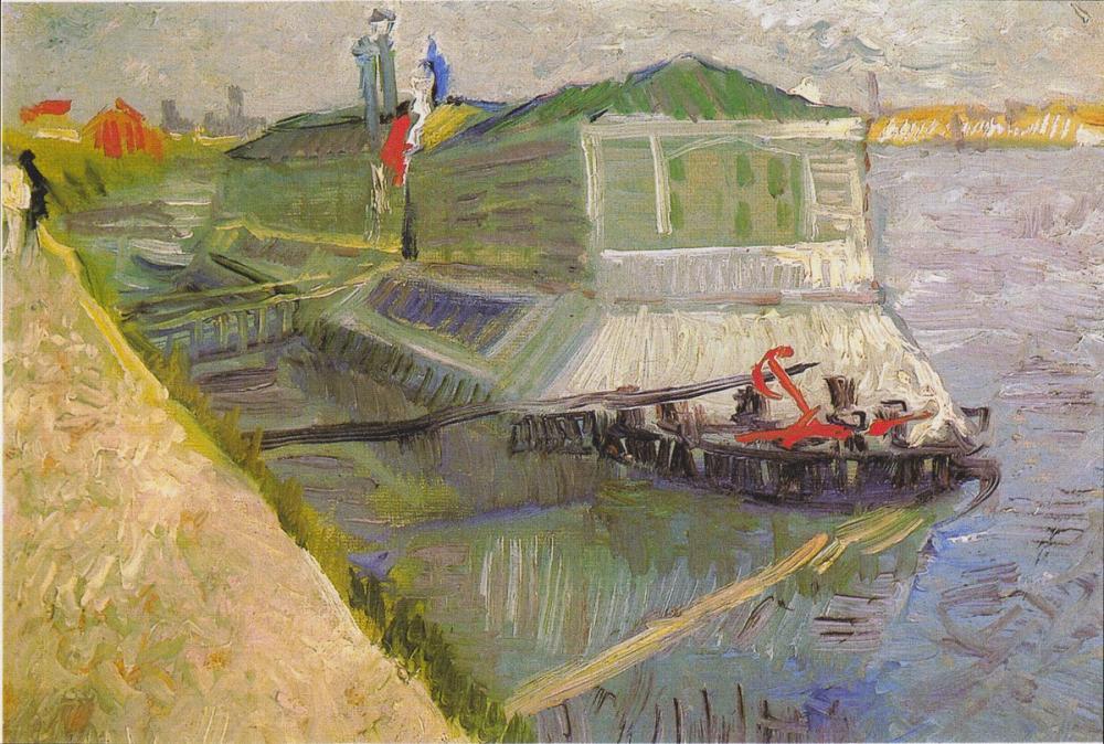Vincent van Gogh, Bathing Boat on the Seine at Asnières, Canvas, Vincent Van Gogh, kanvas tablo, canvas print sales