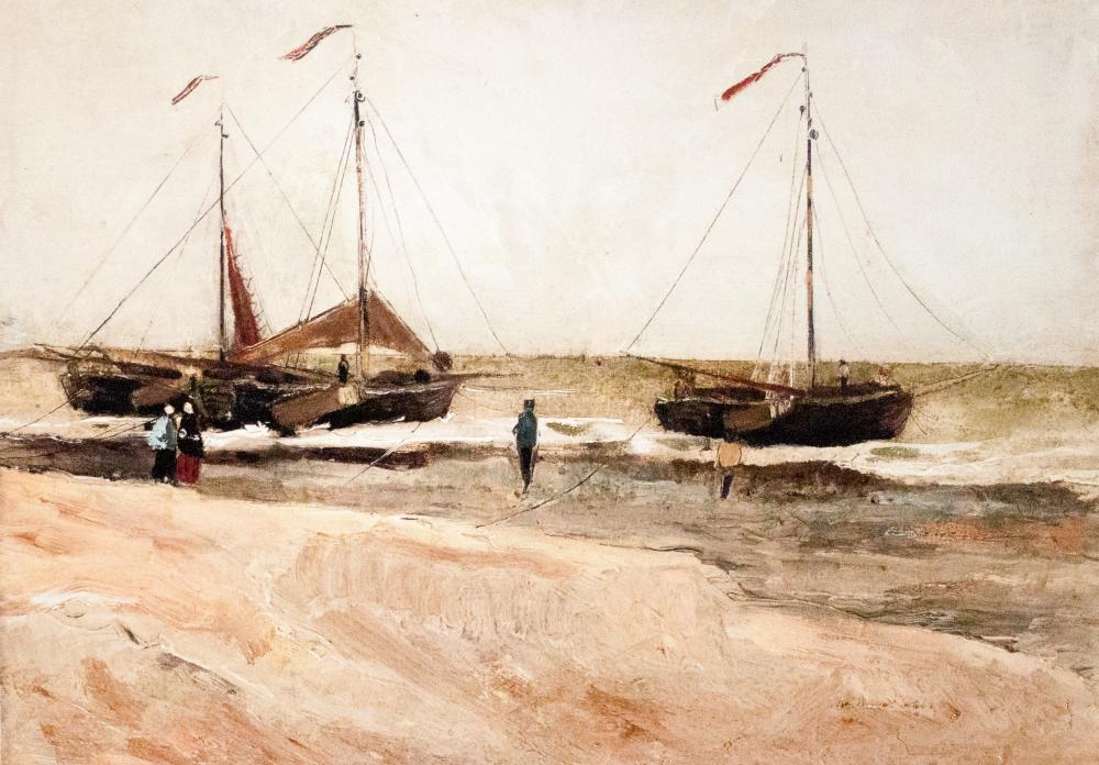 Vincent van Gogh, Sakin Havalarda Scheveningen de Plaj, Kanvas Tablo, Vincent Van Gogh, kanvas tablo, canvas print sales
