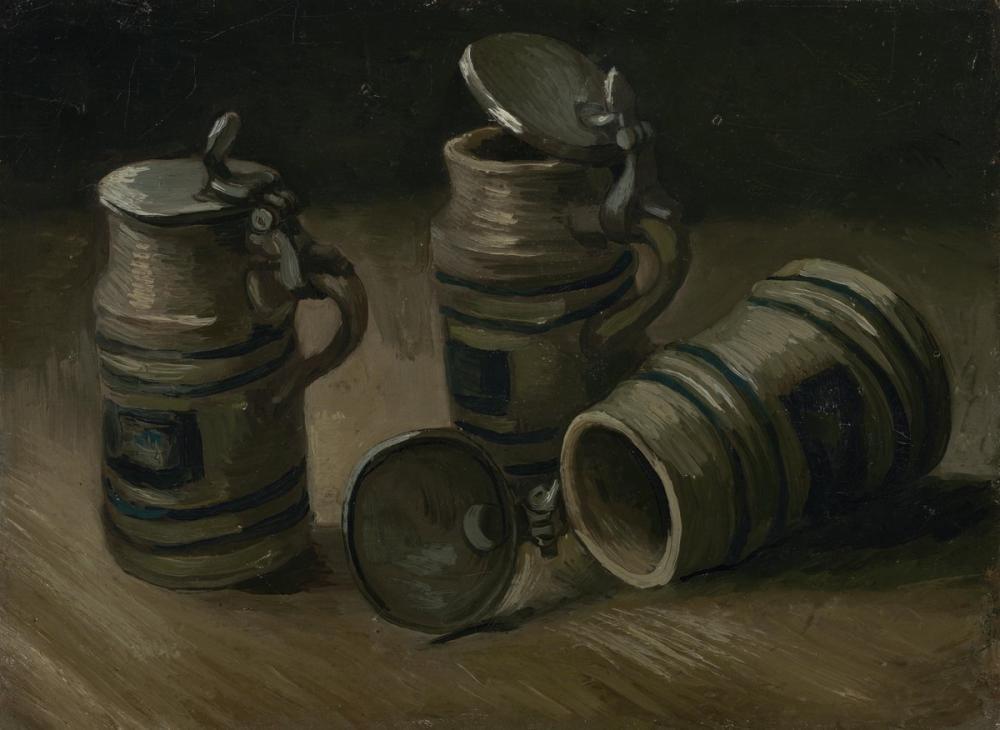 Vincent van Gogh, Beer Mugs, Canvas, Vincent Van Gogh, kanvas tablo, canvas print sales
