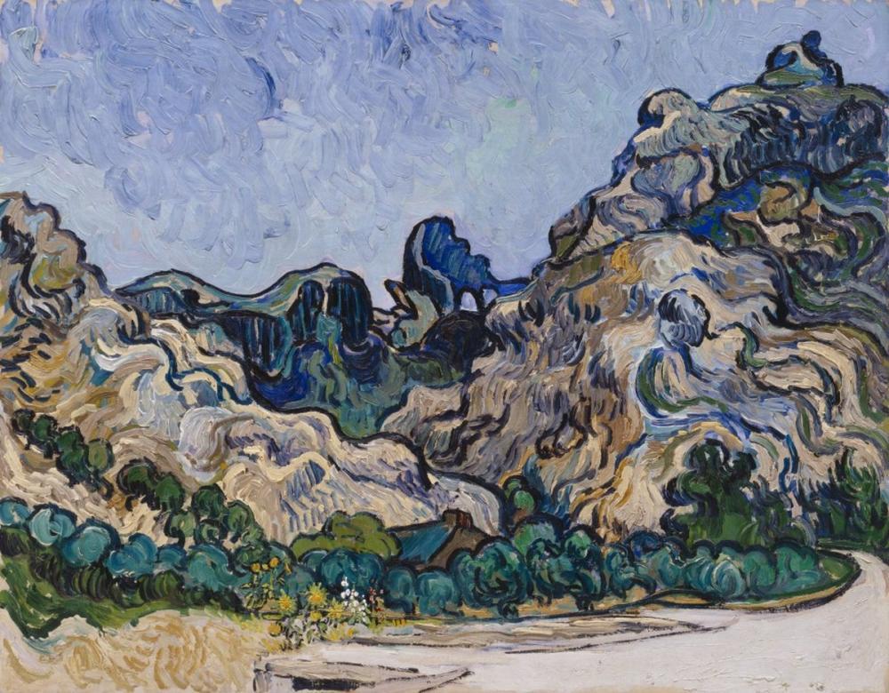 Vincent van Gogh, Saint Remy Hill, Canvas, Vincent Van Gogh, kanvas tablo, canvas print sales