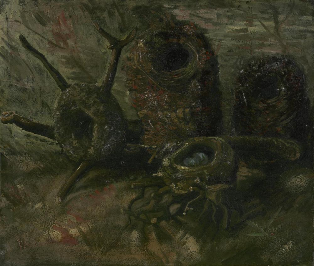 Vincent van Gogh, Kuş Yuvaları, Kanvas Tablo, Vincent Van Gogh, kanvas tablo, canvas print sales