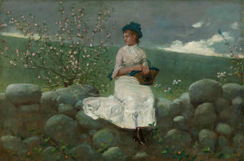 Şeftali Çiçekleri, Winslow Homer, Kanvas Tablo, Winslow Homer, kanvas tablo, canvas print sales