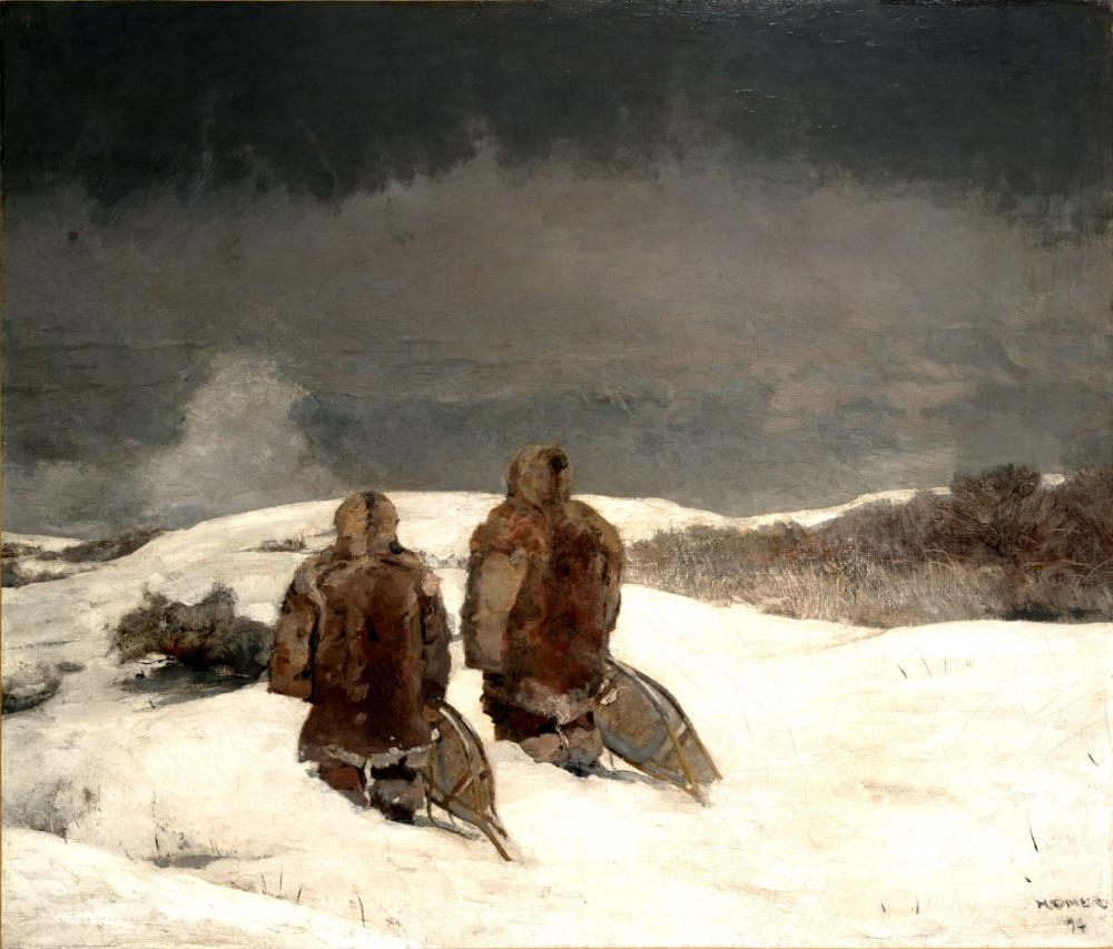 Sıfırın Altında, Winslow Homer, Kanvas Tablo, Winslow Homer, kanvas tablo, canvas print sales