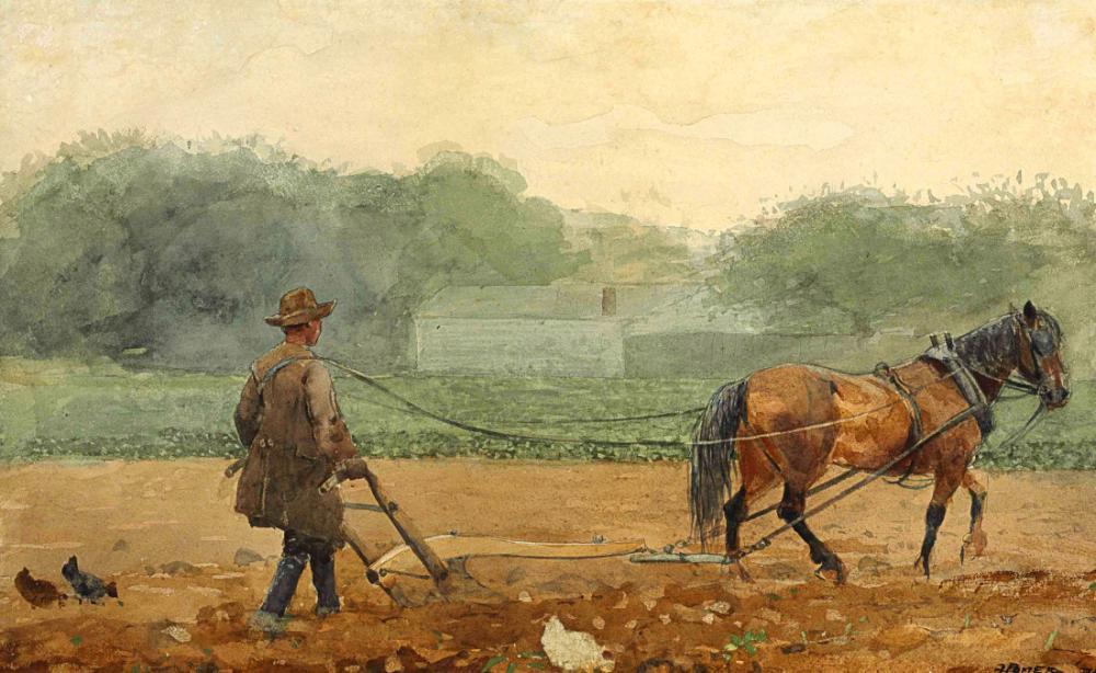 The Plowman, Winslow Homer, Canvas, Winslow Homer, kanvas tablo, canvas print sales