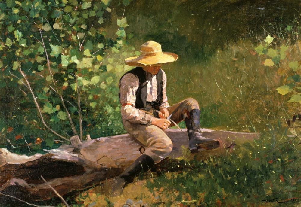 The Whittling Boy, Winslow Homer, Canvas, Winslow Homer, kanvas tablo, canvas print sales