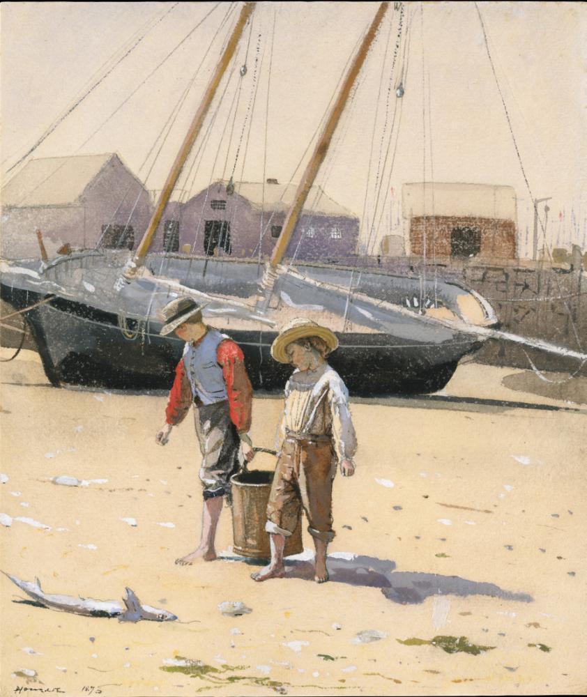 A Basket of Clams, Winslow Homer, Canvas, Winslow Homer, kanvas tablo, canvas print sales