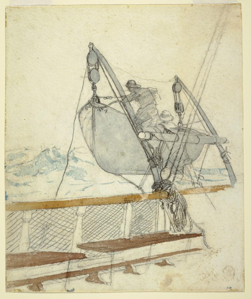 Tehlike Sinyalinin Çizim Çalışması, Winslow Homer, Kanvas Tablo, Winslow Homer, kanvas tablo, canvas print sales