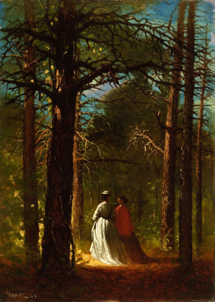 Titreşen Meşeler, Winslow Homer, Kanvas Tablo, Winslow Homer, kanvas tablo, canvas print sales