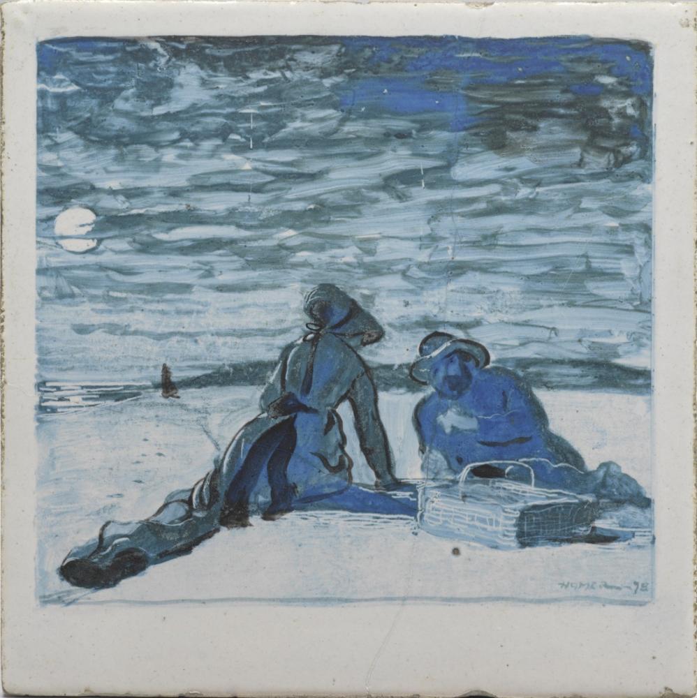 A Littoral Tile, Winslow Homer, Canvas, Winslow Homer, kanvas tablo, canvas print sales