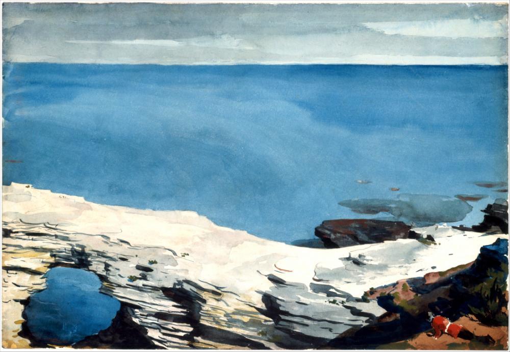 Natural Bridge, Bermuda, Winslow Homer, Canvas, Winslow Homer, kanvas tablo, canvas print sales