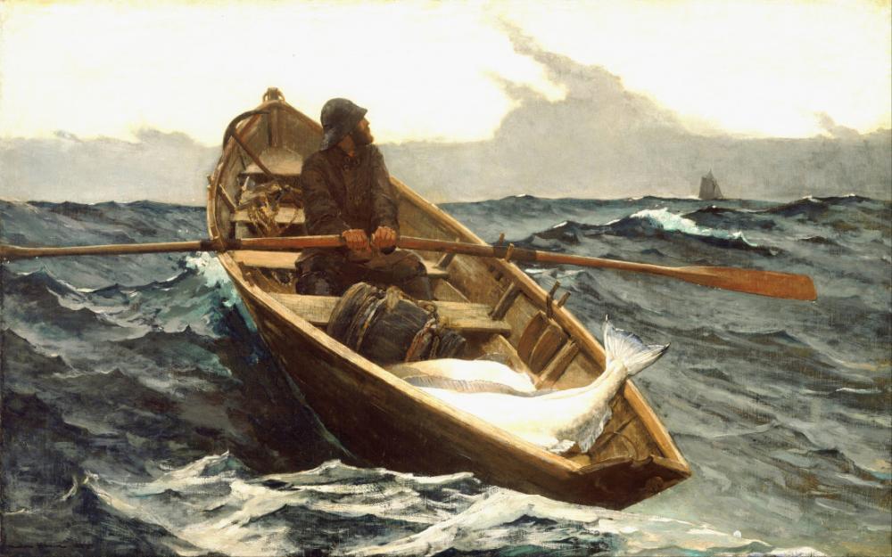 Sis Uyarısı, Winslow Homer, Kanvas Tablo, Winslow Homer, kanvas tablo, canvas print sales