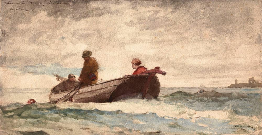 Tynemouth Manastırı, England, Winslow Homer, Kanvas Tablo, Winslow Homer, kanvas tablo, canvas print sales