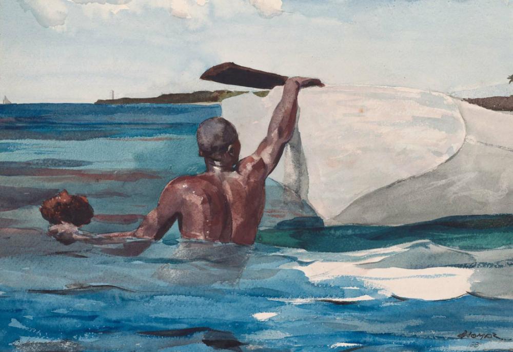 Sünger Avcısı, Winslow Homer, Kanvas Tablo, Winslow Homer, kanvas tablo, canvas print sales