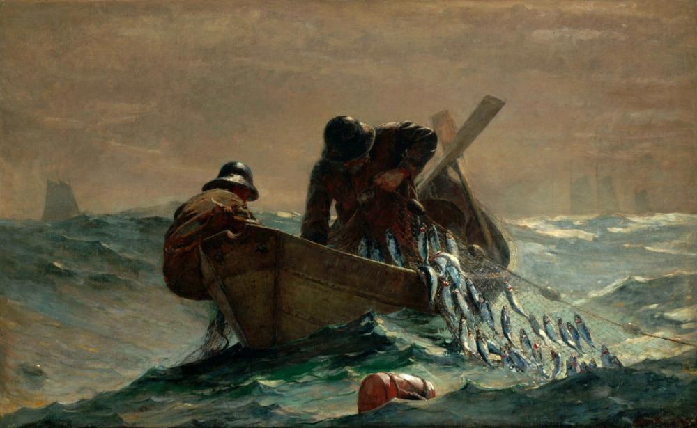 The Herring Net, Winslow Homer, Kanvas Tablo, Winslow Homer, kanvas tablo, canvas print sales