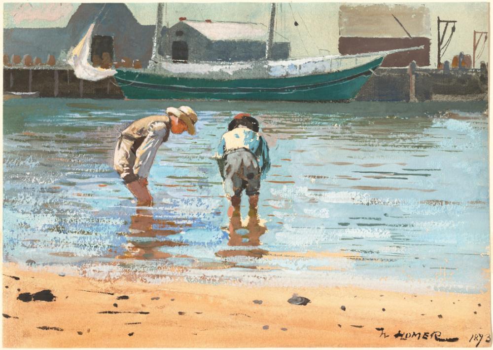 Boys Wading, Winslow Homer, Canvas, Winslow Homer, kanvas tablo, canvas print sales