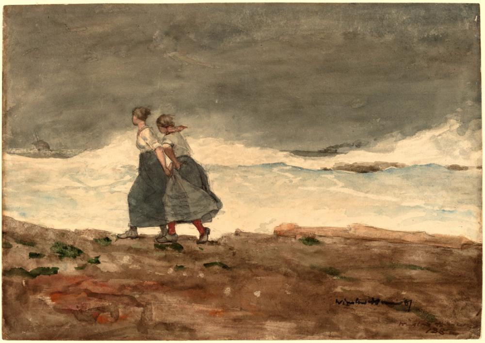 Tehlike, Winslow Homer, Kanvas Tablo, Winslow Homer, kanvas tablo, canvas print sales