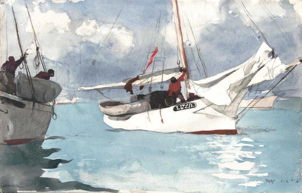 Balıkçı Tekneleri, Key West, Winslow Homer, Kanvas Tablo, Winslow Homer