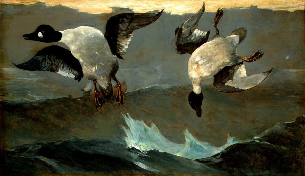 Sağ ve Sol, Winslow Homer, Kanvas Tablo, Winslow Homer, kanvas tablo, canvas print sales