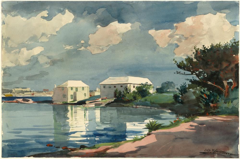 Salt Kettle, Bermuda, Winslow Homer, Kanvas Tablo, Winslow Homer, kanvas tablo, canvas print sales