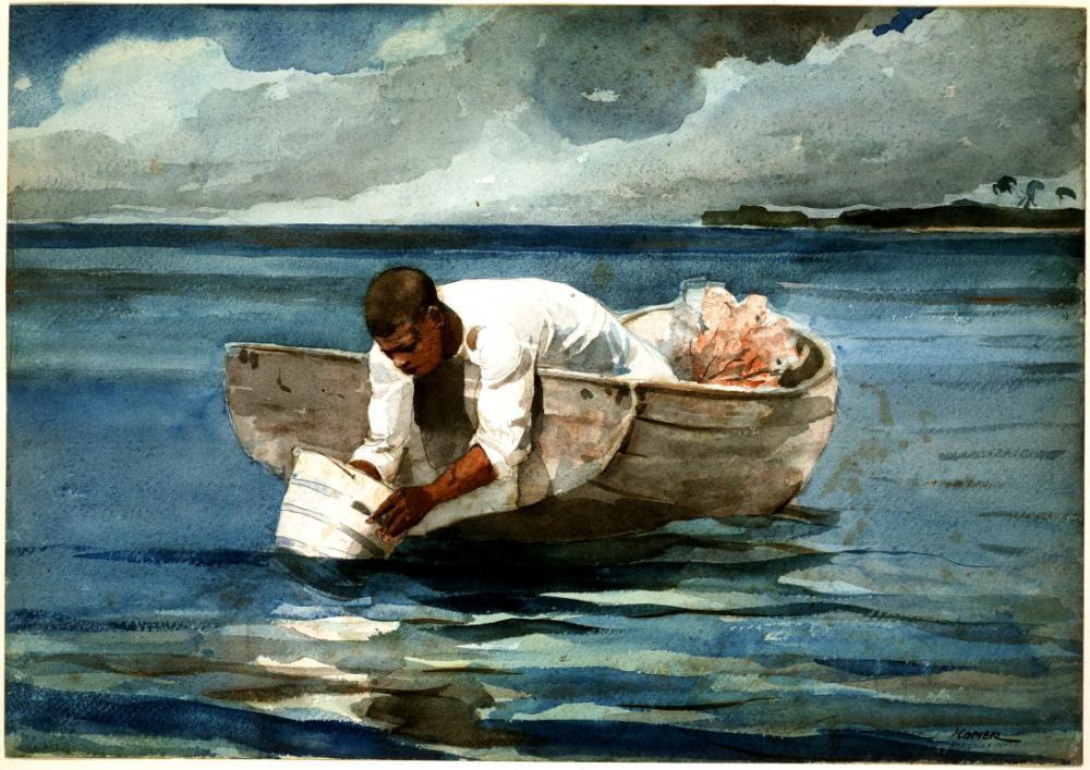 Su ile Yıkama, Winslow Homer, Kanvas Tablo, Winslow Homer, kanvas tablo, canvas print sales