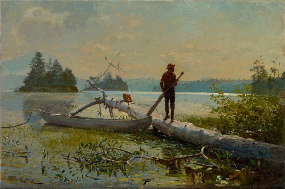 The Trapper, Winslow Homer, Kanvas Tablo, Winslow Homer, kanvas tablo, canvas print sales