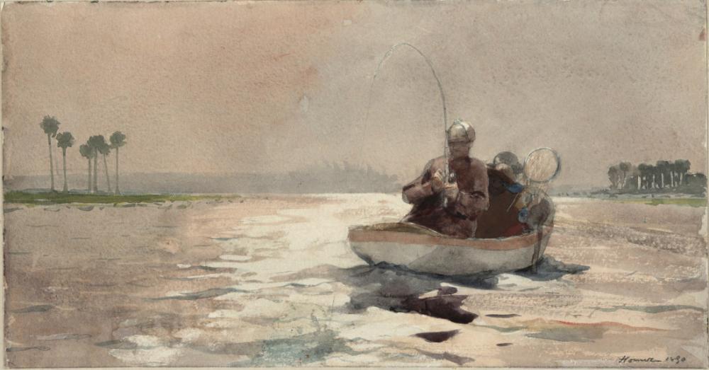 Bass Fishing, Florida, Winslow Homer, Canvas, Winslow Homer