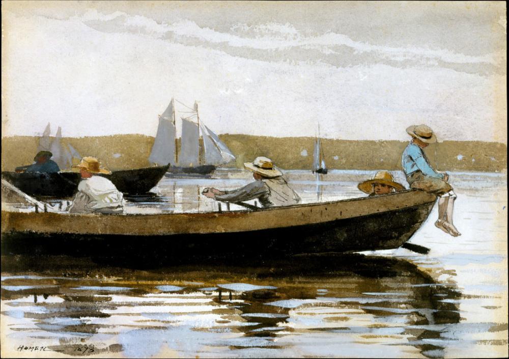 Sandaldaki Çocuklar, Key West, Winslow Homer, Kanvas Tablo, Winslow Homer, kanvas tablo, canvas print sales